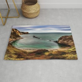 Man O War Cove (Painting) Rug