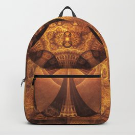 Beautiful Gold and Brown Honeycomb Fractal BeeHive Backpack