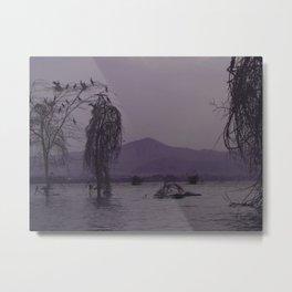 Lake Naivasha in Purple Metal Print