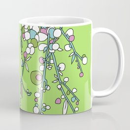 1950s / 1960s Retro Floral Flower Stem Pattern Coffee Mug