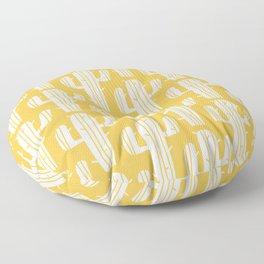 Mid Century Modern Desert Cactus Pattern 835 Yellow Floor Pillow