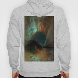 Aurora Borealis by Frederic Edwin Church Hoody