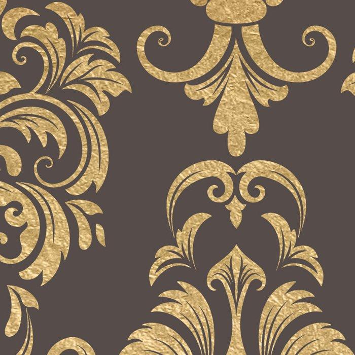 Gold swirls damask #7 Leggings