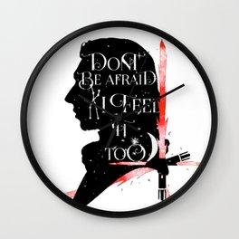 kylo - sabre Wall Clock