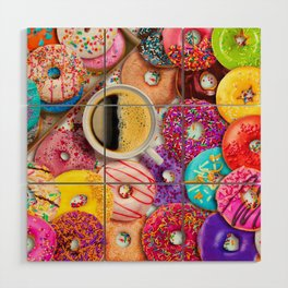 Donuts & Coffee Wood Wall Art