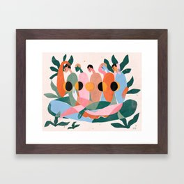 Lunar cycle Framed Art Print