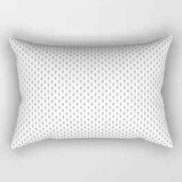 Hedgehog Forest Friends All-Over Repeat Pattern on White Rectangular Pillow