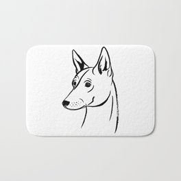 Basenji (Black and White) Bath Mat