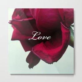 LOVE'S Red Rose Metal Print