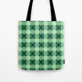 Green plaid Tote Bag