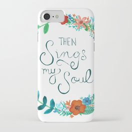 My Soul Sings Floral Wreath iPhone Case
