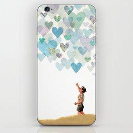 Look, The Sky Is Full of Love iPhone Skin