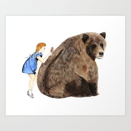 Grizzly Girl Art Print