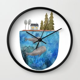 Whales are watching you Wall Clock