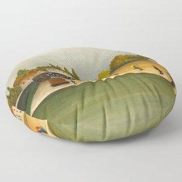 Henri Rousseau - Quai d'Ivry Floor Pillow