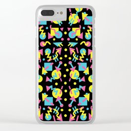 Party Pattern Clear iPhone Case