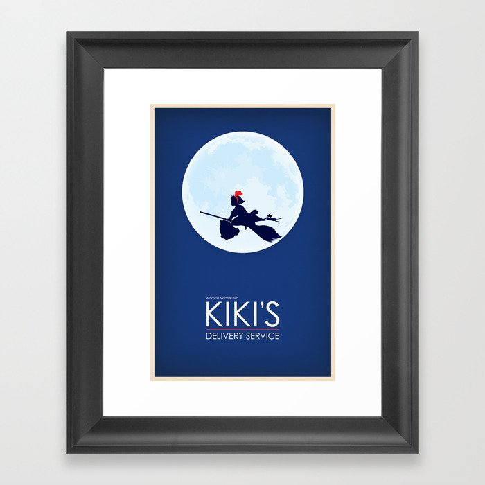 Kiki\'s Delivery Service Framed Art Print by fluffypancakes | Society6