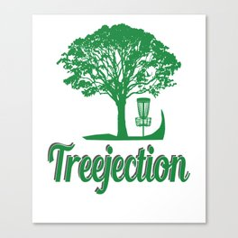 Treejection Funny Disc Golf Canvas Print