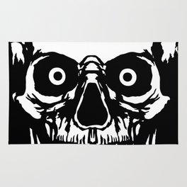 Most Ugly Satanic Skull Rug