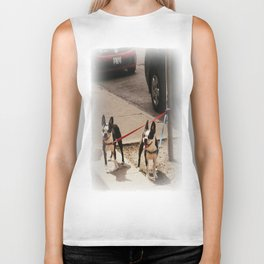 Boston Terriers ~ amped up for action! Biker Tank