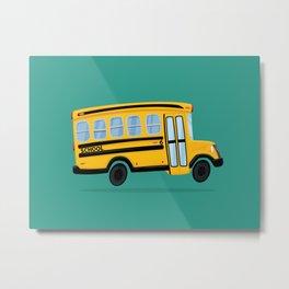 Cute School Bus Metal Print