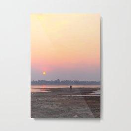 Dusk on the Mekong (Kratie) Metal Print