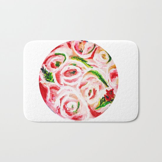 Roses Are Pink Bath Mat