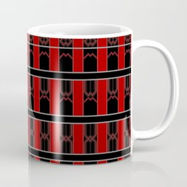 Multi Red Black Stripe Pattern Design Coffee Mug