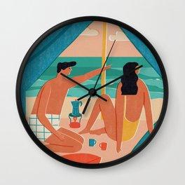 Surf camp Wall Clock