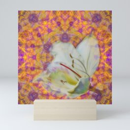 Bauhinia on vibrant kaleidoscope Mini Art Print