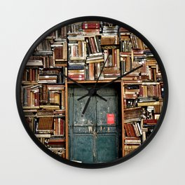 bookstore in Italy Wall Clock