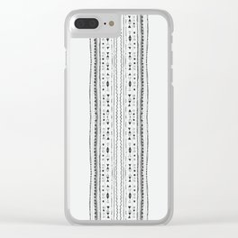 Linework Stripe, White Clear iPhone Case