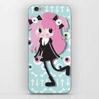 goth iPhone & iPod Skins featuring Pastel Goth by Irene Dose