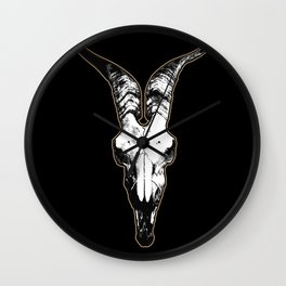 Goat Long Horns Wall Clock