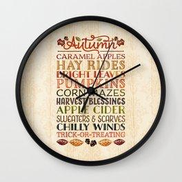 Autumn Fun Wall Clock