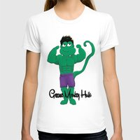 grease T-shirts featuring Grease Monkey Hulk by devinternet