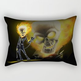 Flaming Skullface v2 Rectangular Pillow