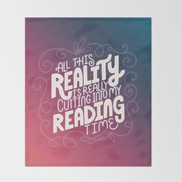 Reality Vs. Reading Rainbow Throw Blanket