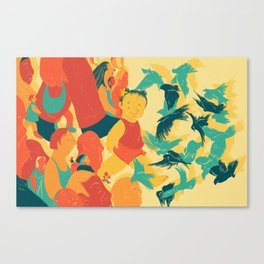 And A Little Girl Who Only Wished To Fly Canvas Print