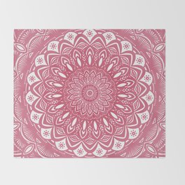 Red Wine Color Mandala Minimal Minimalistic Simple (Yet Bold) Throw Blanket