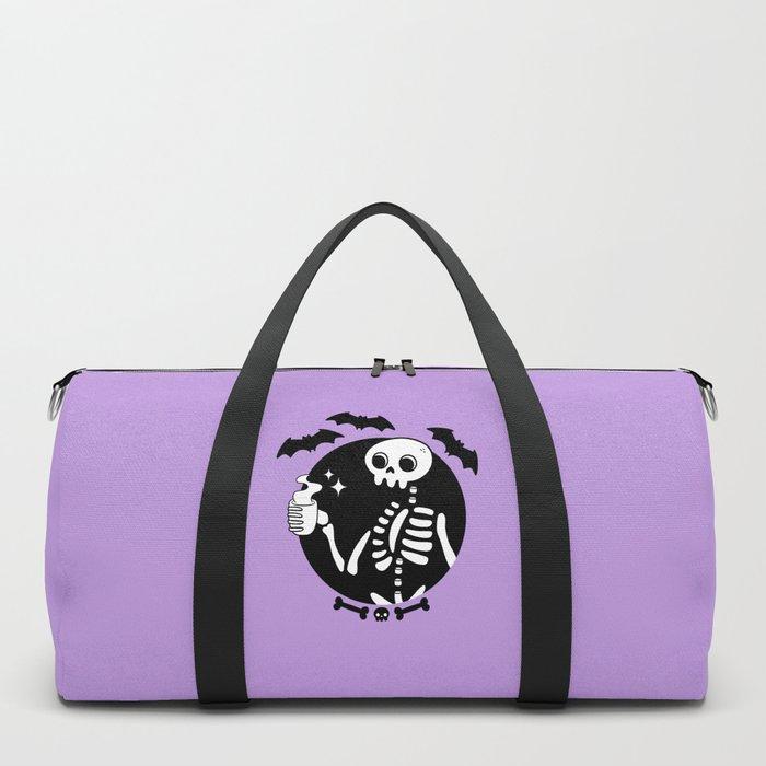 Death Before Decaf // Purple Duffle Bag