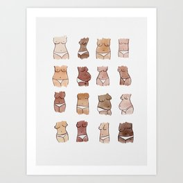 Hello, girls! // Boobs and butts Art Print