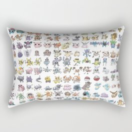 Pokémans! 151 Lazy-Drawn Pocket Monsters ( Rectangular Pillow