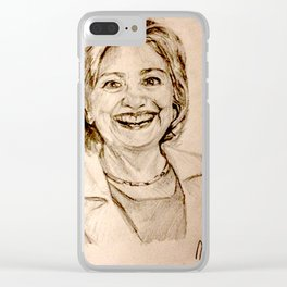 Hillary Clinton Clear iPhone Case