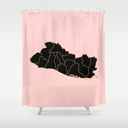 El Salvador map Shower Curtain