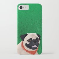 pug iPhone & iPod Cases featuring Pug by Nir P