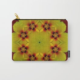 Round Of Hibiscus Carry-All Pouch