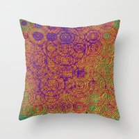 trippy Throw Pillows featuring Trippy by Lyle Hatch