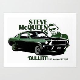 McQueen Bullitt Art Print