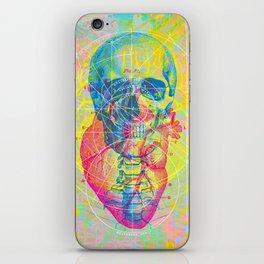 Brain Heart Skull iPhone Skin